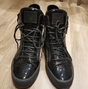 Giuseppe Zanotti High Top Black Patent Leather